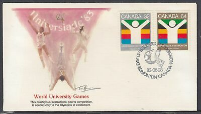 Canada Scott 982a Fleetwood FDC - World University Games
