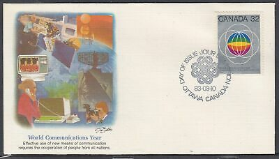 Canada Scott 976 Fleetwood FDC - World Communications Year