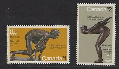 Canada No 656 To 657, Olympic Sculptures,  Mint Nh