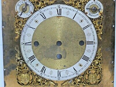 Decorative Brass Grandfather Clock Dial - Chime On Eight Bells - Westminster