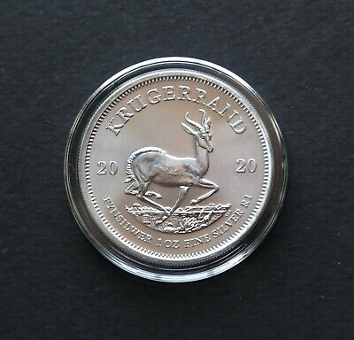 2020 South African Krugerrand Fine SILVER Coin 1 Oz. In New Airtite