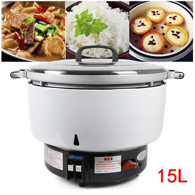 Commercial Natural Gas Rice Cooker 15L 2.8 Kpa 9500W Cook Quickly for 80 people