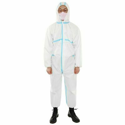 One-piece Disposable Coverall Elastic Hood Clothing Protective Overalls Suit Lot