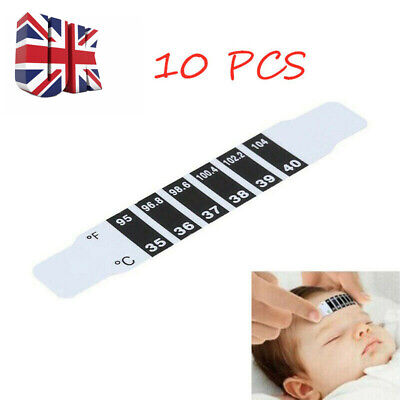 10 Pcs Forehead Thermometer Fever Scan Strip Baby Child Adult Check Temperature