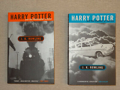 Harry Potter Philosopher's Stone Chamber of Secrets Adult Cover 1st edition set
