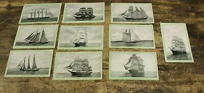Antique LOT OF 10 Singer Sewing Machine Ships Trade Cards
