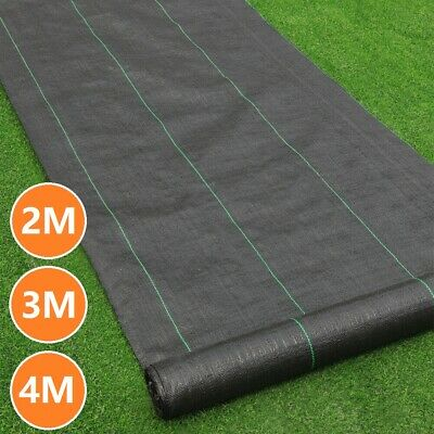 Woven Weed Control Fabric Heavy Duty Ground Cover Membrane Landscape Sheet Mat