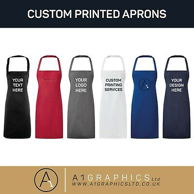 Personalised Custom Printed Apron Baking Cooking Crafts Chef Business Promotion