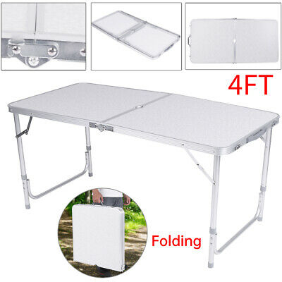 Adjustable Heavy Duty Folding Catering Camping Trestle Picnic Bbq Party Table S
