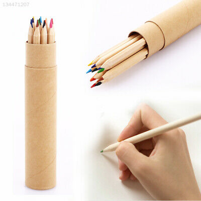 9B51 Colorful Cylinder Colored Pencils 12 Colors Colored Pencils Set Wood