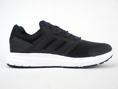 Mens Adidas Galaxy 4 F36163 Black Lace Up Running Trainers