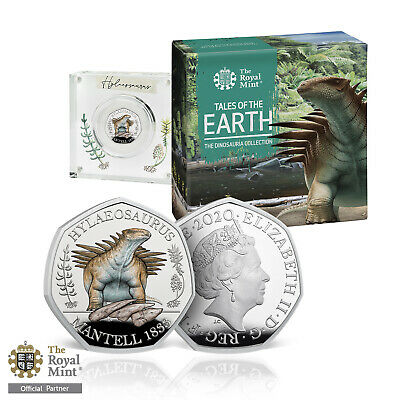 Dinosaur 50p Coin Hylaeosaurus Official Royal Mint Limited Edition Silver Proof
