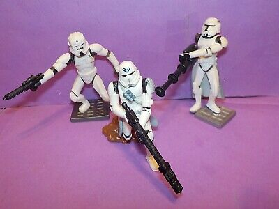 """HASBRO Star Wars figures Unleashed Battle Packs 2.25/"""" tall toy soldiers Marx"""