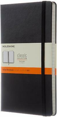 Moleskine Classic Collection Black Hard Cover Ruled Notebook