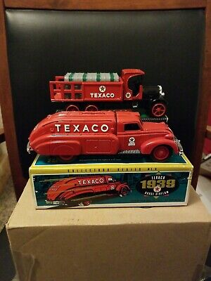 Lot of 2 Ertl Texaco Locking Coin Banks Collector's Series 9&10 New Open Boxes