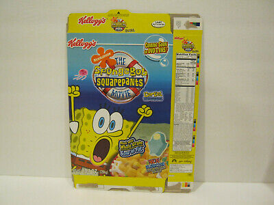 Kellogg's THE SPONGEBOB SQUAREPANTS MOVIE Cereal Box - 2005 - Flat....