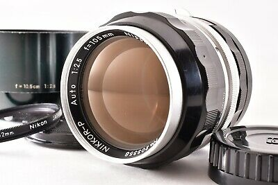 【EXC+5】 Nikon NIKKOR P Auto 105mm F2.5 MF Non Ai Lens + Hood From JAPAN 111A