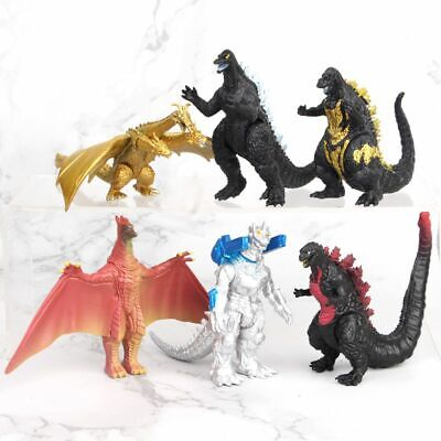 Godzilla 2 Movie King of the Monster 6 pcs Action Figures Toys Set Cake Toppers