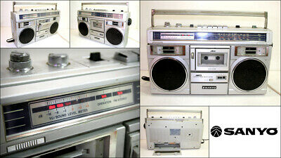 Vintage SANYO M-X310K 4 Band Radio Cassette Recorder Player Boombox