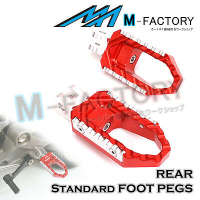 FIt Honda XL1000 Varadero/ABS 99-15 RED Billet Rear Wide Travel Foot Pegs Pedals