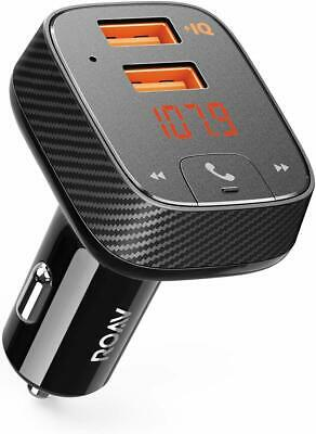 Anker Roav SmartCharge F2 Wireless Bluetooth FM Transmitter Car Charger PowerIQ