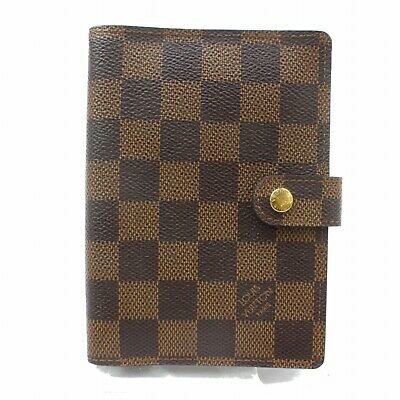 Authentic Louis Vuitton Diary Cover Agenda PM Browns Damier 361277