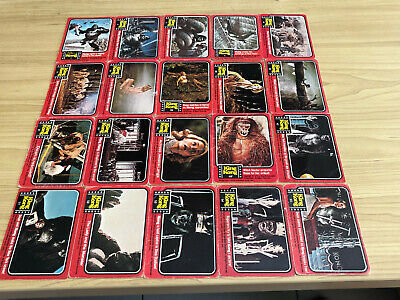 Scanlens 1976 - King Kong - Trading 20 Card LOT - SEE SCAN - NO DOUBLES