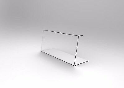 Acrylic Perspex Sneeze Guards - 900mm Wide Reception and Welcome Desk Guard