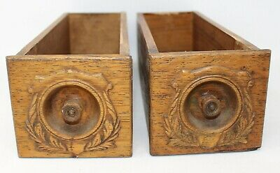 Antique Singer Treadle Sewing Machine Drawer Ornate Front set of 2