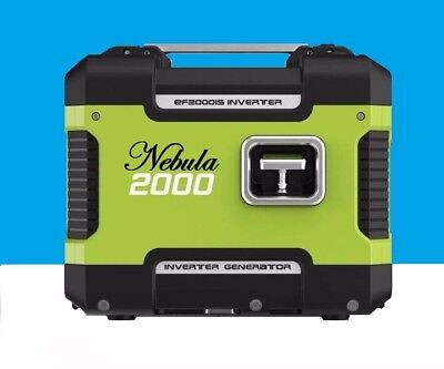 Inverter Generator 2000W Max 1600W Rated Pure Sine Wave Portable Camping Petrol