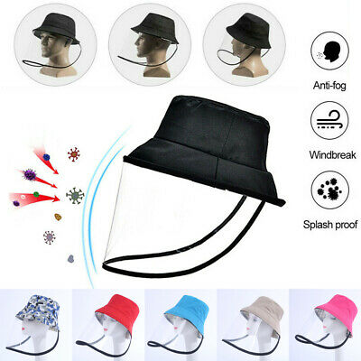 US Safety Face mask Shield Anti-spitting Protective Cap Cover Outdoor Hat Unisex