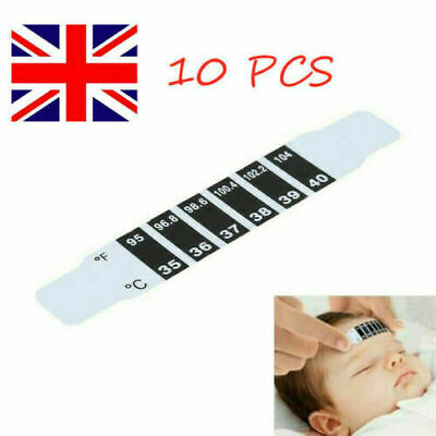 2/5/10Pcs Kids Forehead Thermometer Strip Baby Body Fever Temperature Test Paper