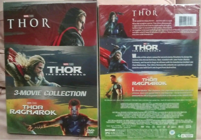 THOR 3 Movie Collection (DVD Region 1) Complete Trilogy 1 2 3 US seller >>NEW<<