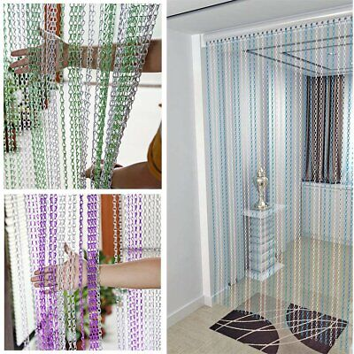 UK Metal Chain Insect Fly Door Curtain Screen Aluminium Pest Control 214 x 90CM