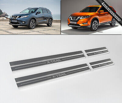 Nissan X-Trail (T32, Released 2014) Stainless Sill Protectors / Kick Plates