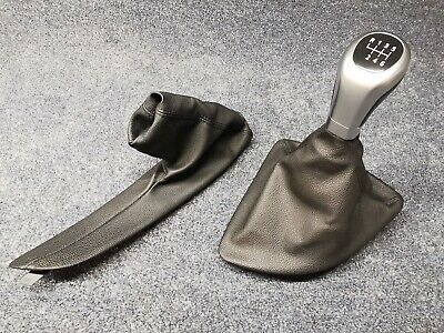 E81 E82 E87 E88 Bmw 1 Series Gear Stick / Handbrake Leather Gaiter / Cover Set
