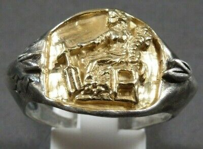 Ancient Roman Gold Silver Ring Legionary Military Legio XV Primigenia Caligula