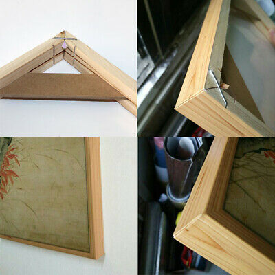 Wood Frame Stretcher Bars Stretching Strips Kit For Canvas Print Picture Photo
