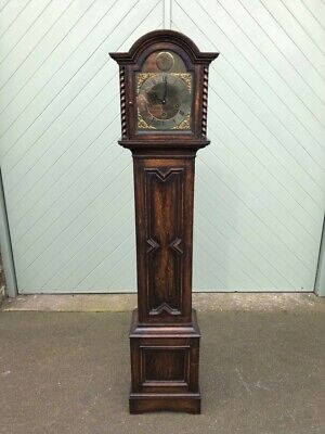 Quality Edwardian Oak Granddaughter Clock