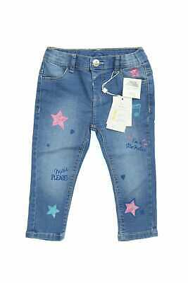 Fagottino Used Look-Jeans mit D 86 denimblau Glitter- Kinderhose Denim Kinder