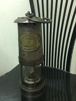 Antique E. Thomas & Williams Cambrian Averdale Miners Lantern Made In England