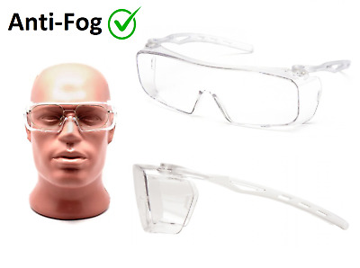 Pyramex Safety Goggles Over Glasses with H2X Anti-fog UV Clear Lens Large Size