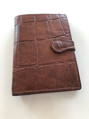 Lovely Mulberry Pocketbook Filofax In Brown Congo Leather Very Good