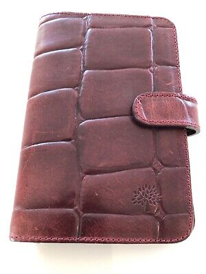 Beautiful Vintage Mulberry Pocketbook Filofax In Oxblood Congo Excellent