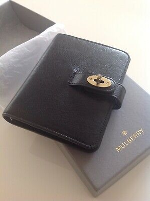 Beautiful Mulberry Pocketbook Filofax In Black NVT Leather Excellent