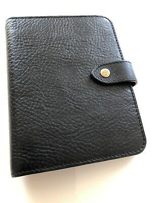 Mulberry Pocketbook Filofax In Black NVT Leather Excellent Condition