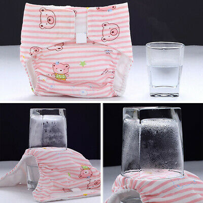 Newborn Baby Adjustable Washable Reusable Cotton Nappy Cover Cloth Diaper Casual
