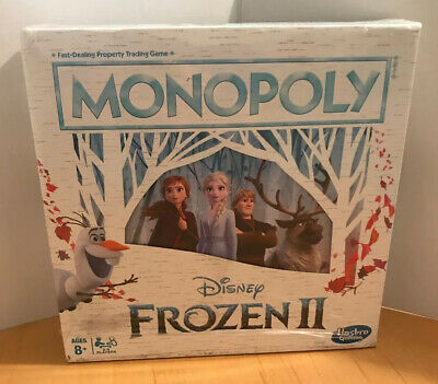 Monopoly Game: Disney Frozen 2 Edition Board Game New in Worn Packaging