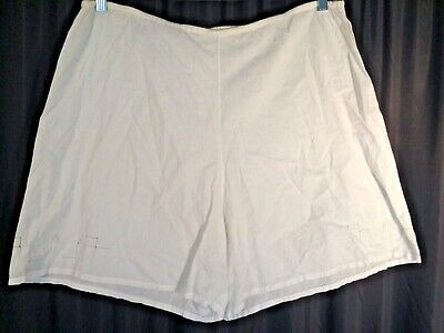 Vintage bloomers Flapper XL tap Panties 100% cotton White pinup 20's embroidery