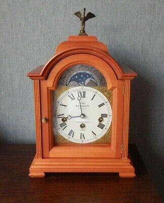 Vintage Sewills of Liverpool Triple Chiming Bracket/Mantle Clock with Moon Phase